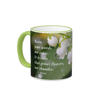 Lily of the Valley....Raise your words Ringer Mug