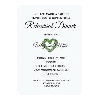 Lily of the Valley Rehearsal Dinner Invitation