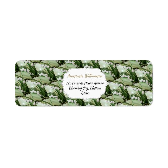LILY OF THE VALLEY RETURN ADDRESS RETURN ADDRESS LABEL