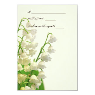 Lily of the Valley RSVP Cards