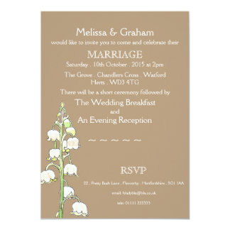 Lily of the Valley Rustic Wedding Invitation