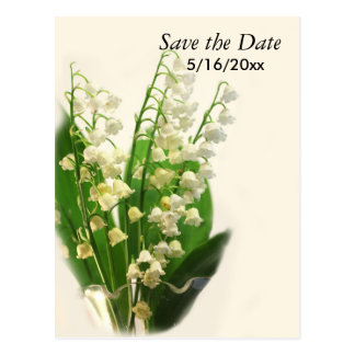Lily of the Valley Save the Date Postcard