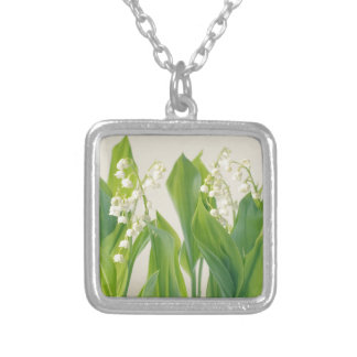 Lily of the Valley Silver Plated Necklace