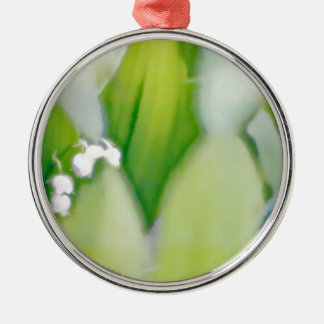 Lily of the Valley Sketch Metal Ornament