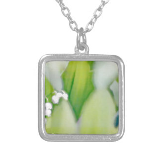 Lily of the Valley Sketch Silver Plated Necklace