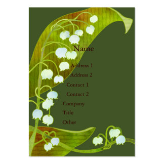 Lily of the Valley Spa Salon Business Cards Pack Of Chubby Business Cards