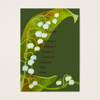 Lily of the Valley Spa Salon Business Cards