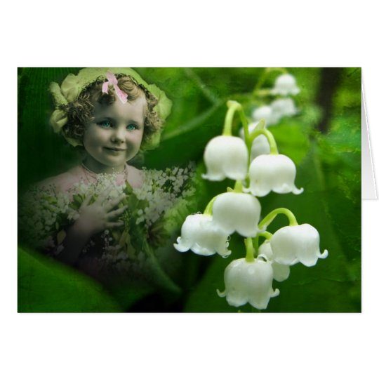 Lily of the Valley Sweet White Bell Flower Bouquet Card