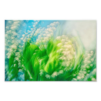 Lily of the Valley Swirl Photo Art