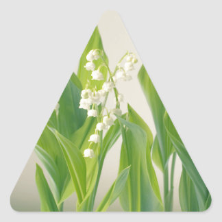 Lily of the Valley Triangle Sticker