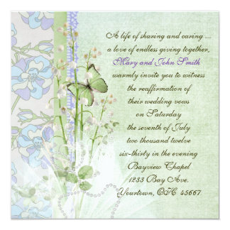 Lily of the Valley Vow Renewal Card