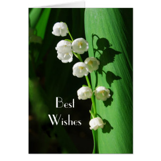 Lily of the Valley Wedding Best Wishes Card