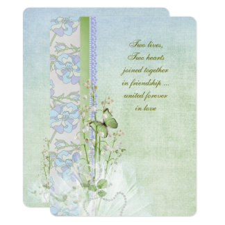lily of the valley wedding bouquet card