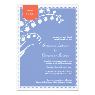 Lily of the Valley Wedding 13 Cm X 18 Cm Invitation Card