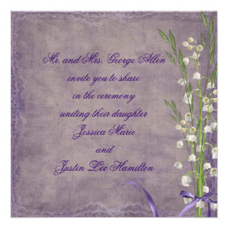 Lily Of The Valley Wedding Custom Announcement
