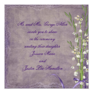 Lily Of The Valley Wedding 5.25x5.25 Square Paper Invitation Card