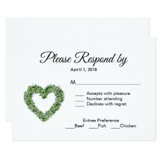 Lily of the Valley Wedding RSVP Enclosure Card