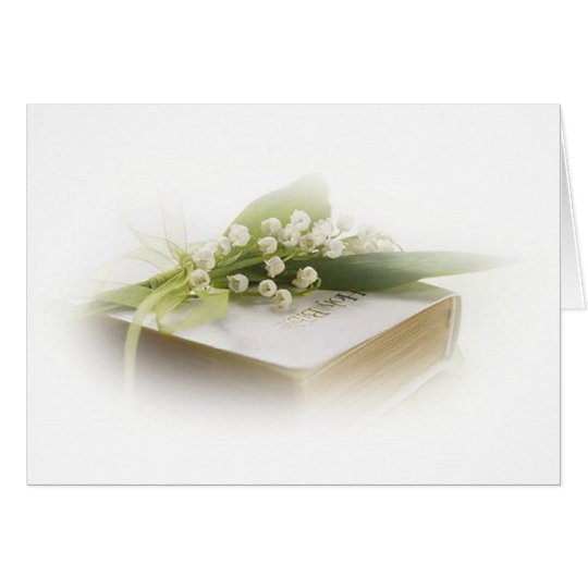 lily of the valley with bible card