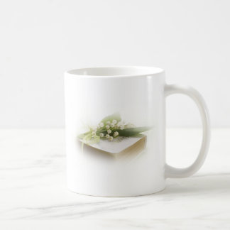 lily of the valley with bible coffee mug