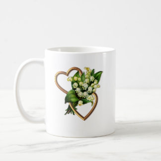 Lily of the Valley with Two Hearts Coffee Mug