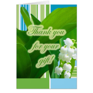 Lily of theValley Gift Thank You Card
