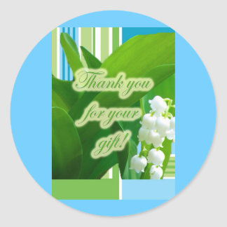 Lily of theValley Gift Thank You Stickers