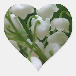 Lily Of Valley Flower Garden  Peace Love Destiny Heart Sticker