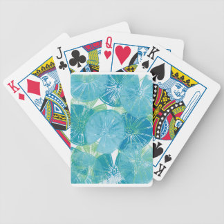 Lily Pad blues Bicycle Playing Cards