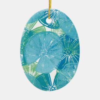 Lily Pad blues Ceramic Ornament