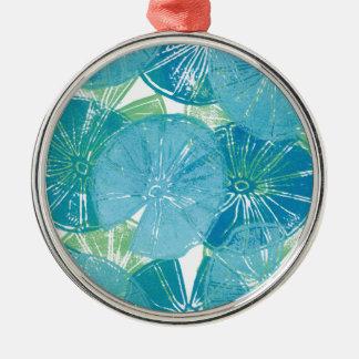 Lily Pad blues Metal Ornament
