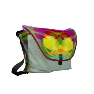 Lily Pad Colorful Abstract Rickshaw Messenger Bag
