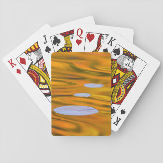 Lily pad on orange water, Canada Playing Cards