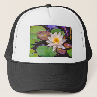 Lily pad on the water trucker hat