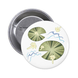 Lily Pads 6 Cm Round Badge