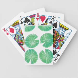 Lily pads bicycle playing cards