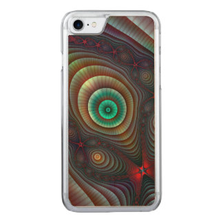 Lily Pads Fractal Fantasy Abstract Art Carved iPhone 7 Case