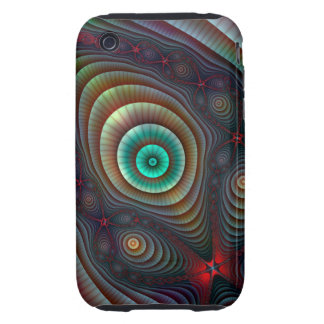 Lily Pads Fractal Fantasy Abstract Art iPhone 3 Tough Case
