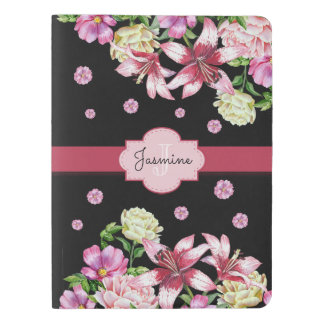 Lily & Peony Floral Black Extra Large Moleskine Notebook