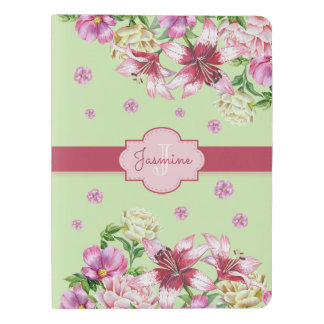 Lily & Peony Floral Mint Extra Large Moleskine Notebook