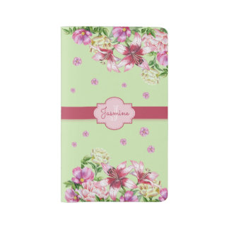 Lily & Peony Floral Mint Large Moleskine Notebook