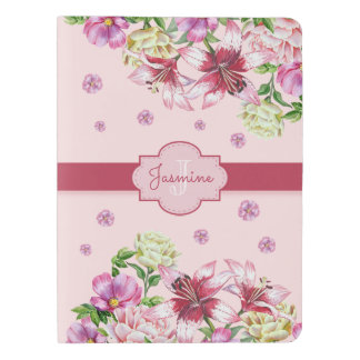 Lily & Peony Floral Pink Extra Large Moleskine Notebook