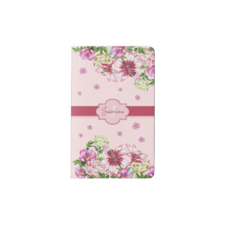 Lily & Peony Floral Pink Pocket Moleskine Notebook