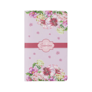 Lily & Peony Floral Purple Large Moleskine Notebook