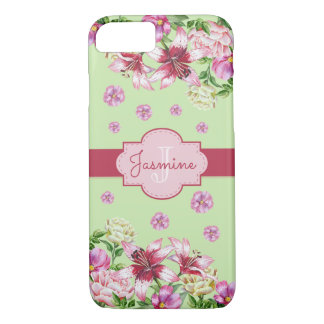 Lily & Peony Mint iPhone 8/7 Case