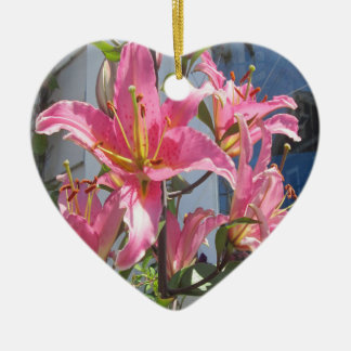 Lily Plant Outdoor Pink Christmas Tree Ornaments