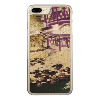 Lily Pond and Bridge Carved iPhone 8 Plus/7 Plus Case