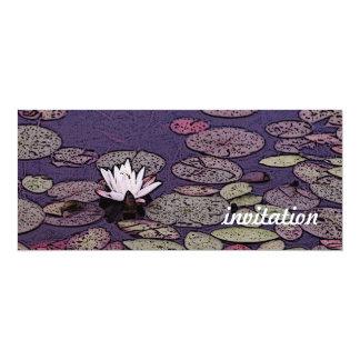 lily pond Art-Nouveau invitation