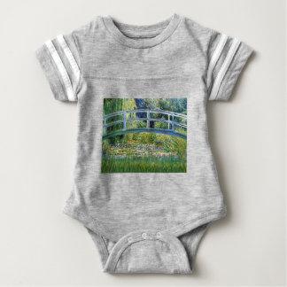 Lily Pond Bridge - insert your pet Baby Bodysuit