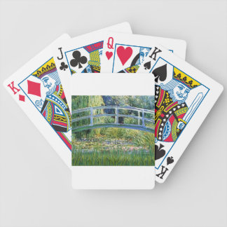 Lily Pond Bridge - insert your pet Bicycle Playing Cards