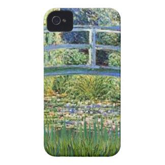 Lily Pond Bridge - insert your pet iPhone 4 Case